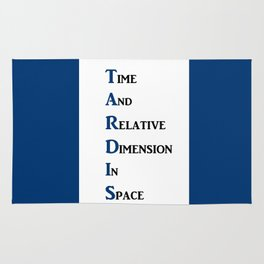 Tardis Doctor Who Time and Relative Dimension in Space Rug