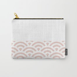 Rainbow Trim Pastel Pink Carry-All Pouch