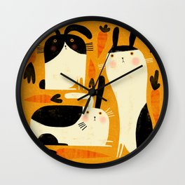 BUNNY PATCH Wall Clock