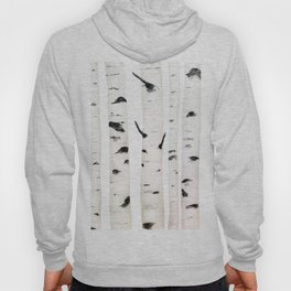 birch  watercolor Hoody