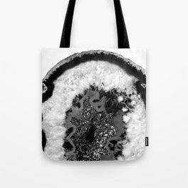 Gray Black White Agate Glitter Glamor #1 #gem #decor #art #society6 Tote Bag
