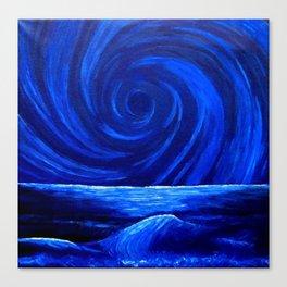 Blue Waterspout Canvas Print