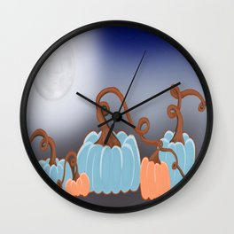 Pumpkin Patch Wall Clock