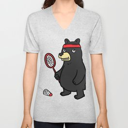 Badminton Badminton Badminton Gift Sport Racket Game Unisex V-Neck