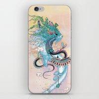 spirit iPhone & iPod Skins featuring Journeying Spirit (ermine) by Mat Miller