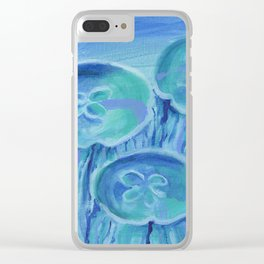 Striated Jelly Moons Clear iPhone Case