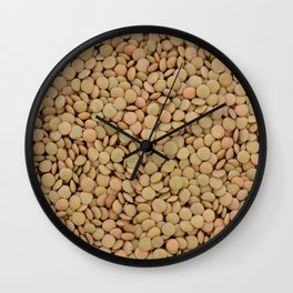 Green lentils Wall Clock