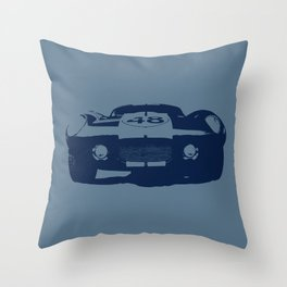 SHELBY DAYTONA 48 CHROMATIC BLUE Throw Pillow