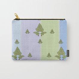 Unique retro interior design and textile design botanical pattern on canvas Carry-All Pouch