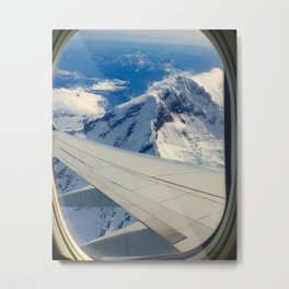 Mountain Views from a Plane Metal Print