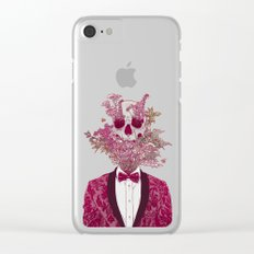 Skull Blossom Clear iPhone Case