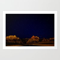 night sky Art Prints featuring night sky by haroulita