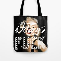 fancy Tote Bags featuring FANCY by Tara Chambers