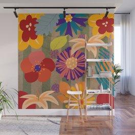 Retro Bouquet Wall Mural