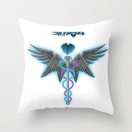 Dr. Freezy Logo Throw Pillow