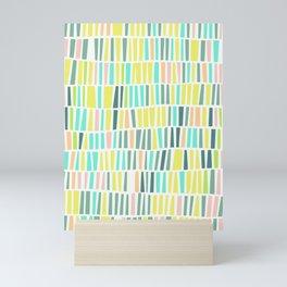 Terrazzo pastel overlay Mini Art Print