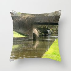 Canal Bridge in Newhampstonshire England Throw Pillow