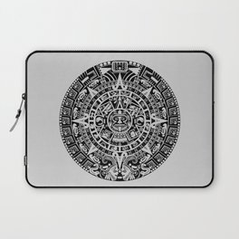 Mayan Calendar // Light Grey Laptop Sleeve