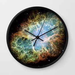 Crab Nebula Wall Clock