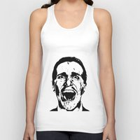 american psycho Tank Tops featuring American Psycho by ginaxcuzzilla