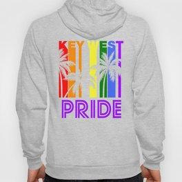 Key West Pride Gay Pride LGBTQ Rainbow Palm Trees Hoody