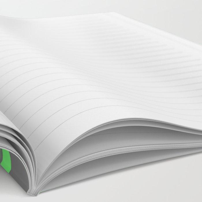 Green & Gray Stripes Notebook