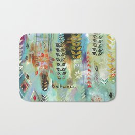 """""""Fly Free Between"""" Original Painting by Flora Bowley Bath Mat"""