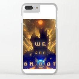 Groots Words Of Wisdom Clear iPhone Case