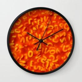 Alphabet Pasta in Tomato Sauce Food Pattern Wall Clock