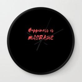 Happiness is Macramé Wall Clock