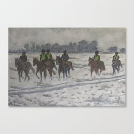 A foggy exercise Canvas Print