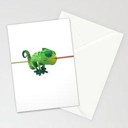 Run Cricket Run - Crazy Chameleon Stationery Cards