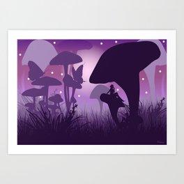 Mushroom fantasy world Art Print