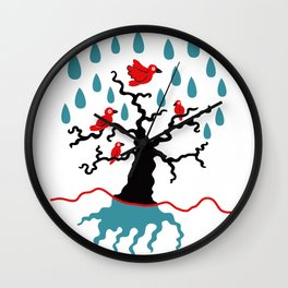 Birds in the trees Wall Clock