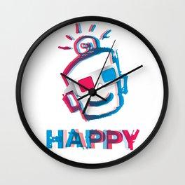 3D HAPPY Wall Clock