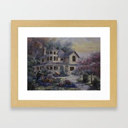 Altered Painting -Welcome Home Dresden Framed Art Print
