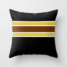 Team Colors...Brown , gold, white and black Throw Pillow