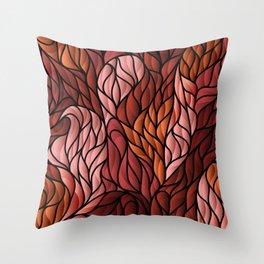 Society6 Foxy Orange Background Throw Pillow
