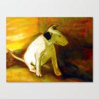puppy Canvas Prints featuring Puppy by Michal Zbinkowski