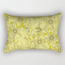 deadly nightshade chartreuse Rectangular Pillow