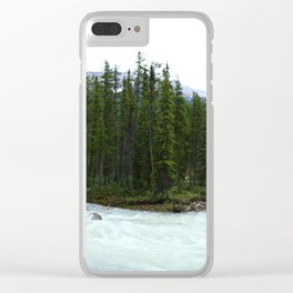 Sunwapta Falls - Jasper National Park Clear iPhone Case