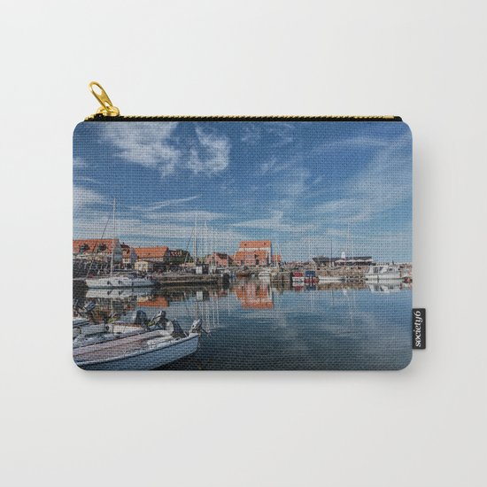 Nordish harbour - Marina at the Sea Bornholm Island Sky Clouds #Society6 Carry-All Pouch