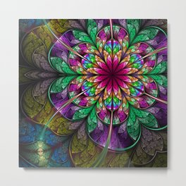 Flavours- Abstract Fractal Artwork Metal Print