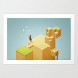 lost thoughts Art Print