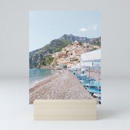 Amalfi Coast Beach Mini Art Print