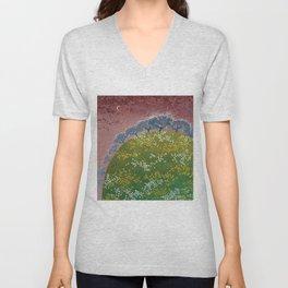 fairy garden,original oil painting, green planet Unisex V-Neck