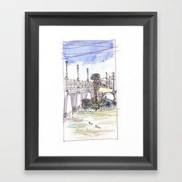 Ducks in the River Framed Art Print