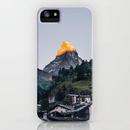 Beautiful Matterhorn in Sunrise iPhone Case