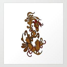 Horse letter Art Print