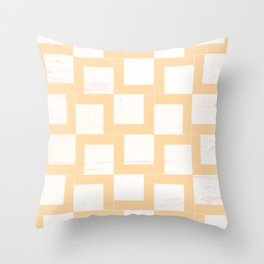 Soft Gold Geometric Shapes On Japanese Paper Throw Pillow